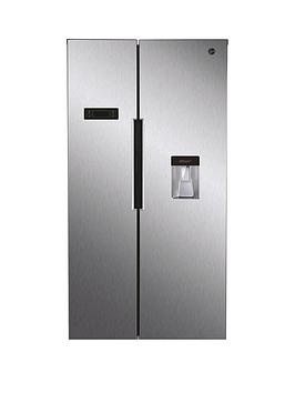 Hoover Hhsbso 6174Xwdk Total No Frost, Side By Side Fridge Freezer With Water Dispenser - Stainless Steel Best Price, Cheapest Prices