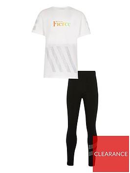 river-island-girls-fierce-t-shirt-and-legging-set-whiteblack