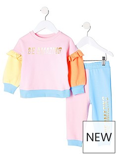 river-island-mini-girls-colour-block-sweat-and-jog-set-pinkblue