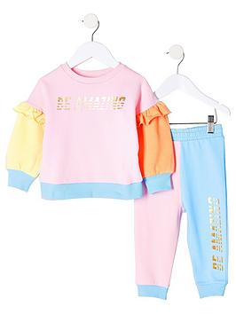 river-island-mini-girls-colour-block-sweat-and-jog-set-pinkblue
