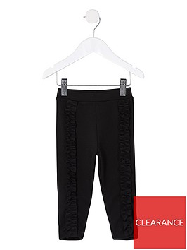 river-island-mini-mini-girls-frill-front-legging--black