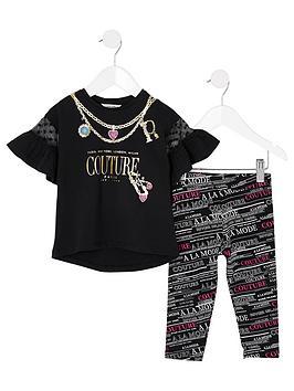 river-island-mini-girls-couture-printed-t-shirt-and-legging-set--nbspblack