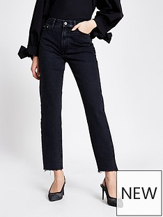 river-island-high-waist-straight-leg-jean-black