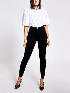 river-island-high-waist-skinny-jean-black