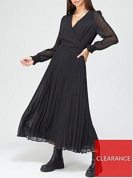 v-by-very-wrap-pleated-midaxi-dress-blacknbsp
