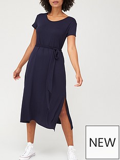 v-by-very-short-sleeve-jersey-midi-dress-navy