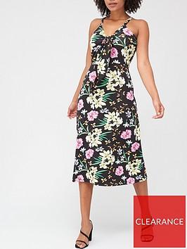 v-by-very-tie-front-midi-dress-floral-print