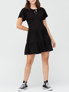 v-by-very-tiered-jersey-dress-black