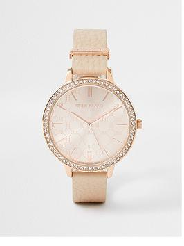 river-island-punbspstrap-monogram-dial-watch-rose-gold
