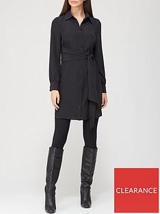 v-by-very-tie-shirt-dress-black
