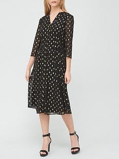 v-by-very-diamond-print-notch-neck-midi-dress-print
