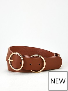 v-by-very-ola-double-buckle-belt-tan