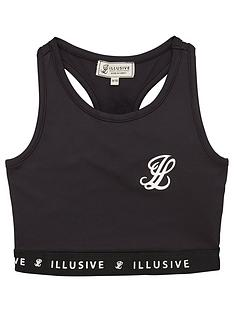 illusive-london-girls-core-logo-bralette-black