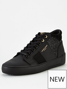 android-homme-propulsion-mid-geo-textured-trainers-black