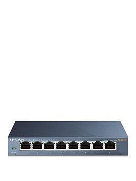Tp Link Tp-Link Tl-Sg108 8-Port 10/100/1000Mbps Desktop Network Switch