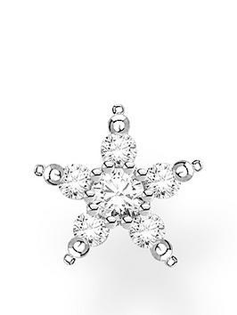 thomas-sabo-sterling-silver-cubic-zirconia-single-star-earring