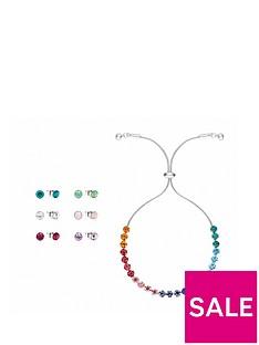 buckley-london-rainbow-bracelet-and-stud-earring-six-pack-withnbspfree-gift-bag