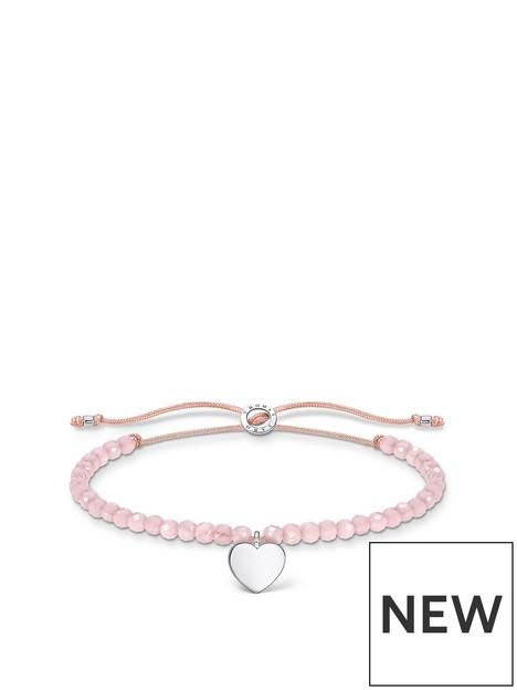 thomas-sabo-thomas-sabo-sterling-silver-and-rose-quartz-adjustable-heart-charm-bracelet
