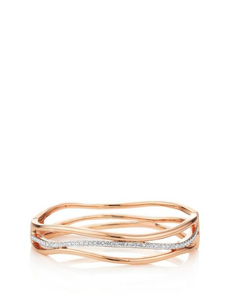 buckley-london-bayswater-two-tone-rose-silver-bangle-withnbspfree-gift-bag