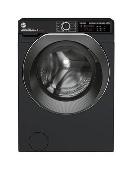Hoover H-Wash 500 HDD4106AMBCB Free Standing Washer Dryer, Care Dose, A Rated, 10 kg/6 kg, 1400 rpm, Black