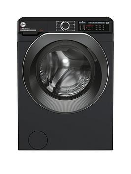 Hoover H-Wash 500 HW412AMBCB Free Standing Washing Machine, Large Capacity, A+++, 12 kg, 1400 rpm, Black
