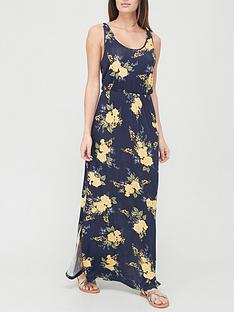 v-by-very-channel-waist-maxi-dress-floralprint