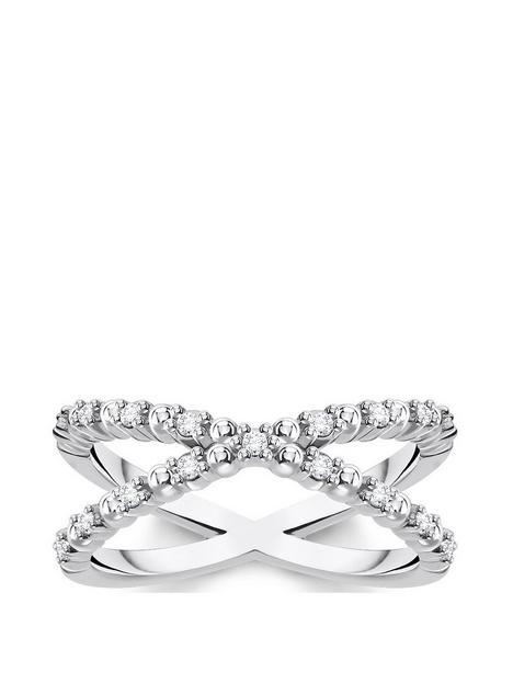 thomas-sabo-thomas-sabo-sterling-silver-and-cubic-zirconia-stacking-cross-ring