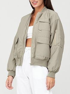missguided-missguided-oversized-pocket-bomber-jacket-olive