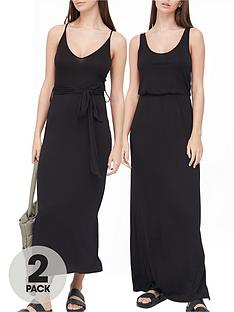v-by-very-2-pack-midi-amp-maxi-dress-black