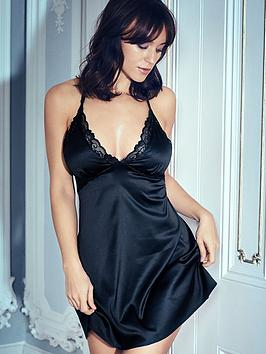 pour-moi-dusk-satin-chemise-black