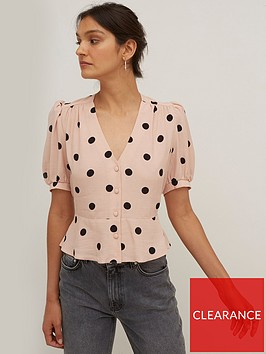 nobodys-child-mabel-button-front-top-pink