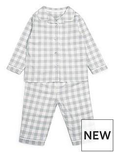 mamas-papas-unisex-baby-woven-check-pyjamas-grey