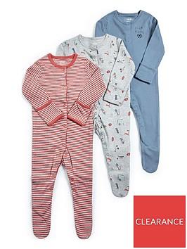 mamas-papas-baby-boysnbspsports-sleepsuits-3-packnbsp--multi