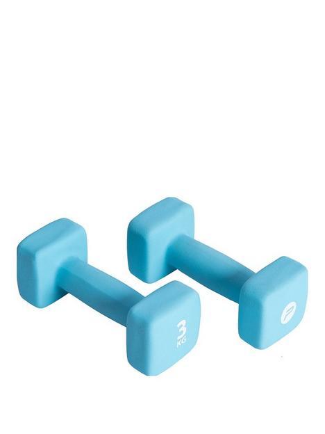 pure2improve-neoprene-coated-3kg-dumbbell-set