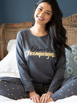 pour-moi-jersey-cotton-slogan-blame-the-champagne-pj-set-charcoal