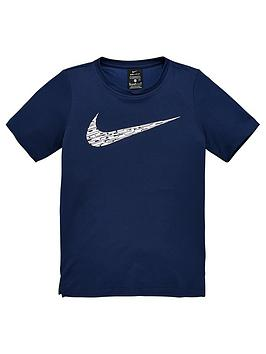 nike-boys-core-performance-short-sleeve-top-navy-white