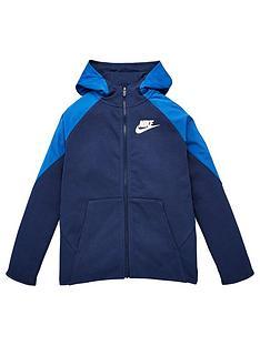 nike-boys-nsw-mixed-material-full-zip-hoodie-navy