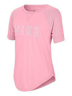 nike-girls-dry-trophy-short-sleeve-top-pink