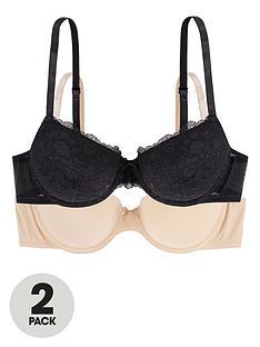 dorina-enact-2-packnbsplightly-padded-demi-bra-blackbeige