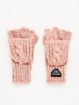 superdry-gracie-cable-glove-pink