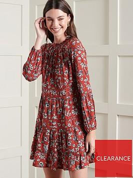 superdry-richelle-long-sleevenbspdress-red