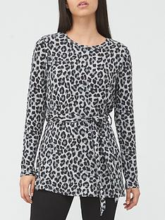 v-by-very-long-sleeve-snit-tie-waist-tunic-animal