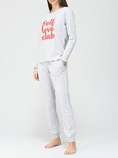 v-by-very-self-love-clubnbsplong-sleeve-pyjamas-grey-marl