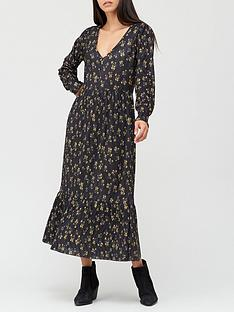 v-by-very-long-sleeve-button-detail-midaxi-dress-black-floral