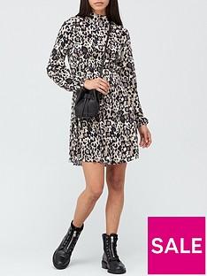 v-by-very-long-sleeve-curve-seam-waist-mini-dress-animal