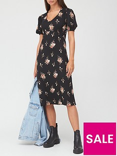 v-by-very-seam-waist-midi-dress-blackfloral