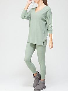v-by-very-slouchy-v-neck-lounge-set-green