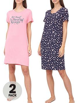 v-by-very-valuenbspbe-kind-2-pack-nightdress-pinkheart-print