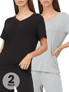 v-by-very-mix-amp-matchnbsp2-pack-lace-trim-t-shirts-greyblack