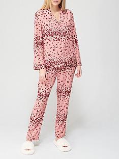 v-by-very-animalnbspbutton-through-woven-mothers-daynbsppyjamas-animal-print